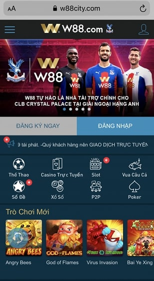 Giao Diện W88 Mobile ( m.w88 city)